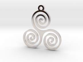 Triple Spiral (Triskele) - Sacred Geometry in Platinum