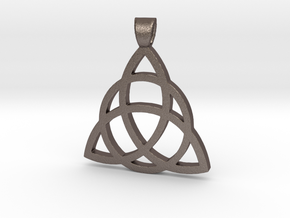 Eternity Amulet-Celtic in Polished Bronzed Silver Steel
