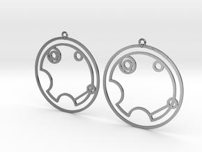 Violet - Earrings - Series 1 in Polished Silver