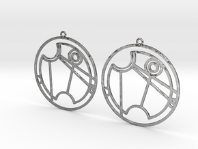Vanessa - Earrings - Series 1 in Polished Silver