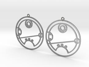 Riley - Earrings - Series 1 in Polished Silver