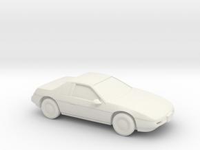 1/87 1985 Pontiac Fiero in White Natural Versatile Plastic