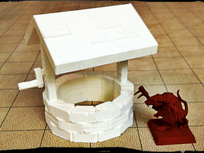Stone well 28mm in White Strong & Flexible