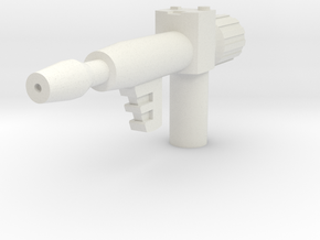 Generic Mini-guy Blaster (5mm handle) in White Natural Versatile Plastic
