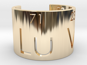 Nerd Love Ring, Periodic Table Ring in 14K Yellow Gold