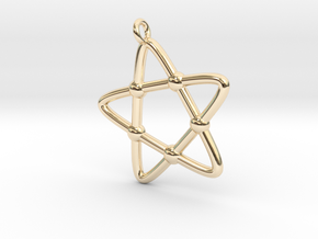 Hypotrochoid Star Pendant in 14K Yellow Gold