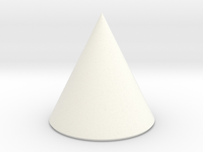 Basic Cone in White Processed Versatile Plastic