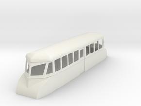 "009 bogie ""Flying Banana"" railcar  in White Natural Versatile Plastic"