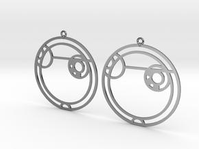 Alexa - Earrings - Series 1 in Fine Detail Polished Silver