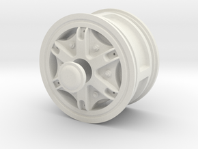 Wheel-front-wide in White Strong & Flexible
