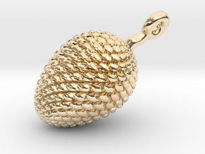 Pine Cone Pendant in 14K Gold