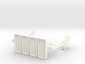 1-16 T55 ENIGMA Turret Rear Shields in White Processed Versatile Plastic