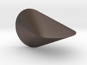 Oloid 2-circle roller in Polished Bronzed Silver Steel