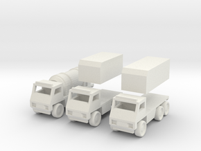 Truck [3 Pack] in White Strong & Flexible