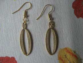 Coil 96 1 Earrings in Raw Brass