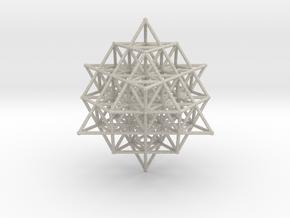 64 Tetrahedron Grid Large 190mm Isotropic Vector M in Natural Sandstone