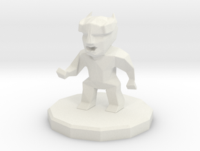 Enemy small demon in White Natural Versatile Plastic