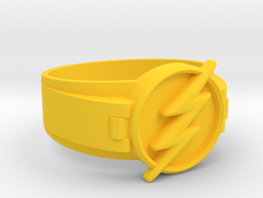Flash Ring size 8.5 18.5mm  in Yellow Processed Versatile Plastic