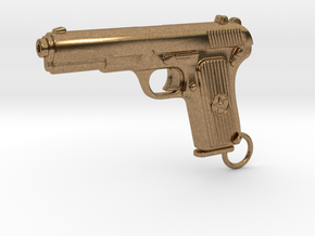 Tokarev Gun in Natural Brass