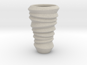 Designer Cup Vase  in Natural Sandstone