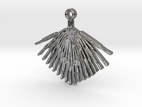 Palmetto Leaf pendant in Polished Silver