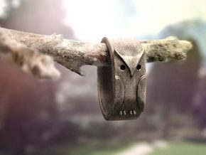 Owl ring: size 7 (US) O (UK) in Stainless Steel