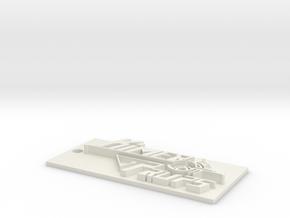 Kimer Props Keychain in White Natural Versatile Plastic