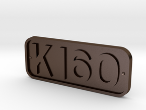 K160 Cabside Plate - STEEL in Polished Bronze Steel