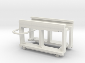 Dummy Chassis Circuit Board Mount - N Scale 1:160 in White Natural Versatile Plastic