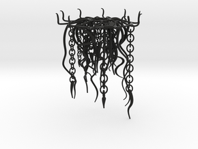 Jellyfish Lampshade part B: tentacles in Black Natural Versatile Plastic