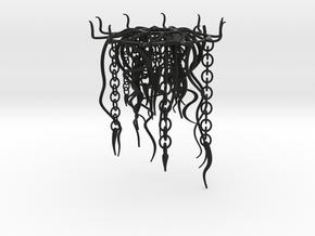 Jellyfish Lampshade part B: tentacles in Black Natural Versatile Plastic