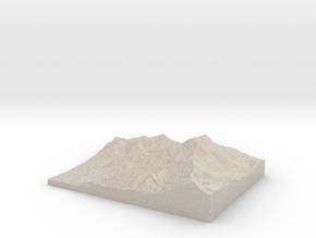 Model of Ross Pass in Sandstone