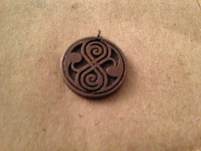 Rassilon pendant in Natural Silver