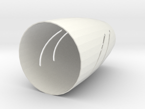 1st A Stl in White Natural Versatile Plastic