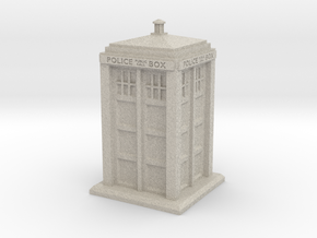 28mm/32mm scale Police Box in Natural Sandstone