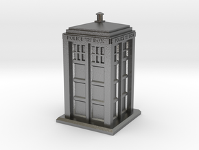28mm/32mm scale Police Box in Natural Silver