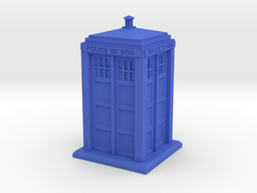28mm/32mm scale Police Box in Blue Processed Versatile Plastic