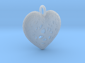 Heart Valentine's Day Pendant in Smooth Fine Detail Plastic
