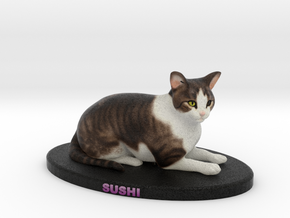 Custom Cat Figurine - Sushi in Full Color Sandstone