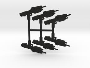Anti Infantry Rifle Pack in Black Natural Versatile Plastic