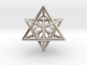 Merkaba Seed Of Life Pendant in Platinum