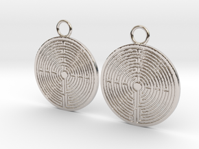Labyrinth earrings in Platinum