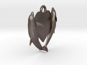 Delphine Earring Small in Polished Bronzed Silver Steel