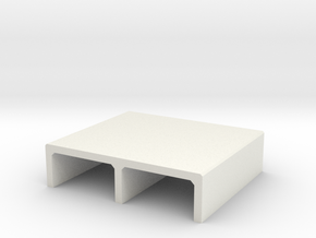 N/H0 Box Culvert Double Tube Half Height (size 1) in White Natural Versatile Plastic