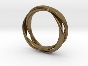3-Twist Ring in Natural Bronze
