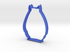XL Totoro - Cookie Cutter in Blue Strong & Flexible Polished