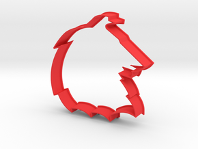 Collie - Cookie Cutter in Red Processed Versatile Plastic