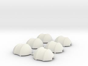 Loose Shells Millimeters in White Natural Versatile Plastic