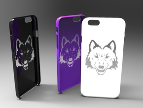Iphone 6 wolf case in White Strong & Flexible