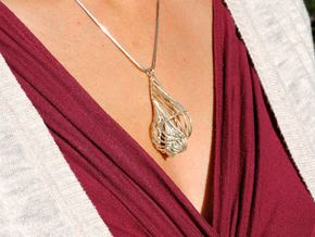 Seashell Pendant in Polished Silver